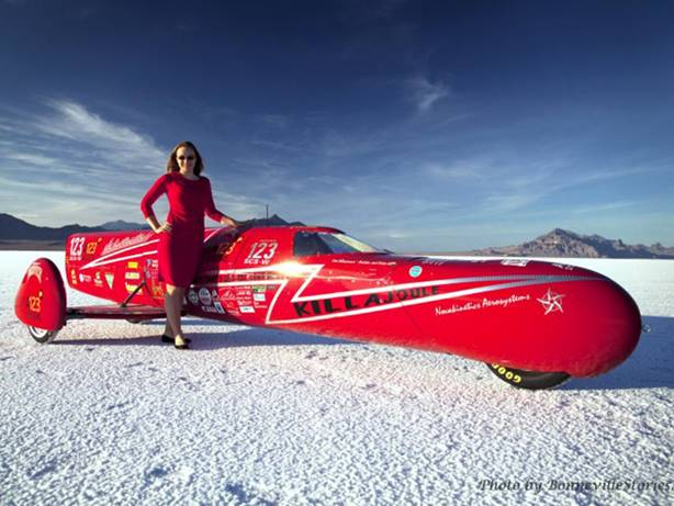 Eva H�kansson earned her current title as the world's fastest woman when the KillaJoule – an electric cycle she designed and built herself – reached 241.9mph